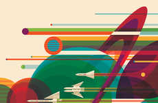 Futuristic Space Travel Posters