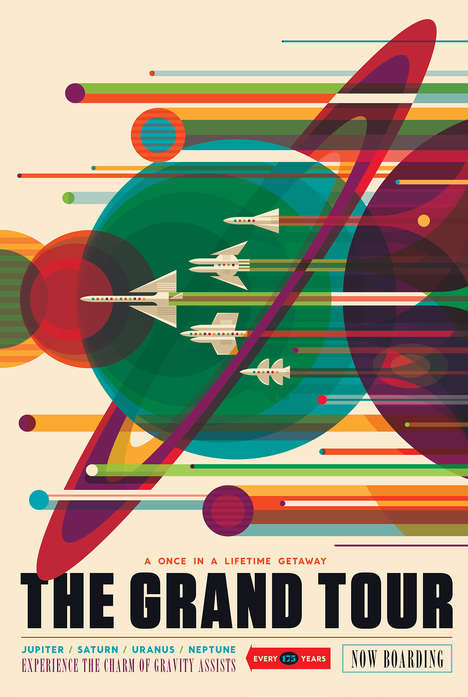 Futuristic Space Travel Posters - These Posters Advertise Fictional Vacations in Outer Space