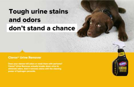 Pet-Specific Deodorizers - This Product Breaks Down Urine Instead of Simply Masking the Smell
