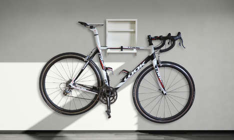 Shelved Bicycle Mounts - The Stow Unit Lets Consumers in Tight Spaces Hang their Bikes on Walls