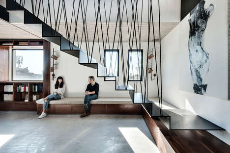 Modular Suspended Staircases - The Duplex Penthouse Offers Luxurious Loft Living with Minimal Stairs