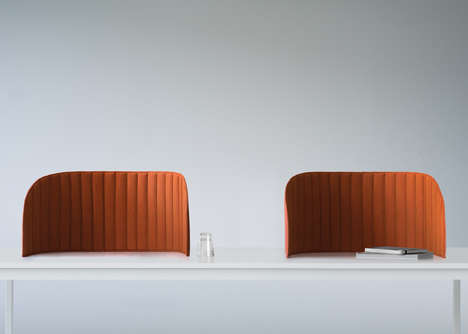 Noise-Reducing Work Areas - The Focus Sound Barriers Create a Quiet Area in a Busy Workspace