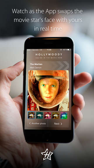 Cinematic Face-Swapping Apps - The Hollywoody Photo Platform Lets Consumers Add Themselves to Films