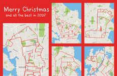 GPS Map Art - Canadian Artist Setphen Lund Creates GPS Art with the Strava App