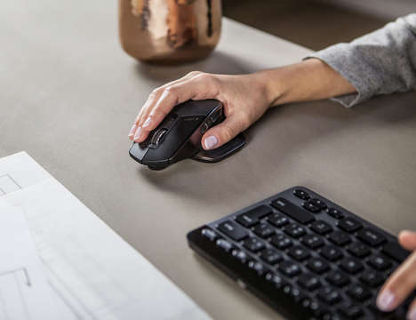 Programmable Computer Peripherals - The Logitech Mx Master Wireless Computer Mouse is Ergonomic