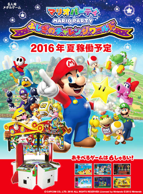 Six-Player Arcade Games - The CAPCOM Mario Party Game Brings a Nintendo Favorite to the Arcade