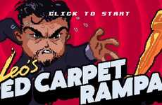 'Leo's Red Carpet Rampage' Stars Leonardo Dicaprio Chasing an Oscar Award