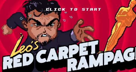 Iconic Actor Video Games - 'Leo's Red Carpet Rampage' Stars Leonardo Dicaprio Chasing an Oscar Award