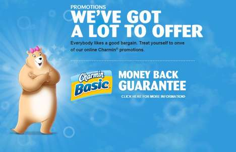 Online Bathroom Tissue Promotions - These Online Charmin Offers Boast a Money Back Guarantee