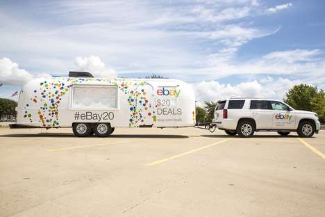 E-Commerce Birthday Road Trips - The eBay 20th Anniversary Airstream Trailer Showcased Deals