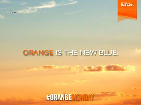 Uplifting Blue Monday Campaigns - The EasyJet Orange Monday Campaign Aimed to Elevate #BlueMonday