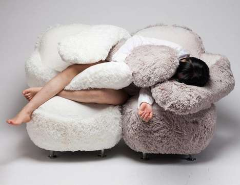 Hug-Giving Sofas - The 'Free Hug Sofa' is Designed to Mimic the Feeling of a Warm Embrace