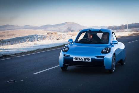 Eco Carbon Fiber Cars - The Riversimple 'Rasa' Hydrogen Fuel Cell Car Provides Enhanced Range