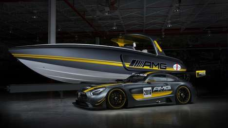 Auto-Inspired Powerboats - This Mercedes-Cigarette Racing Boat Enjoys 2,200 Horsepower