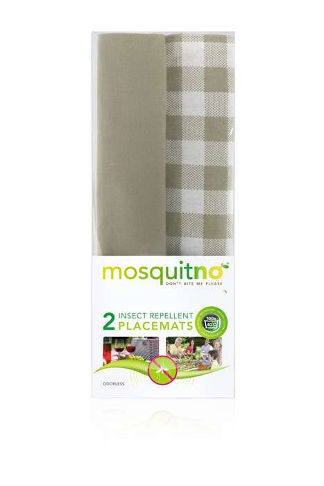 Insect Repellent Placemats - This Insect-Repelling Item is Specific to Outdoor Dining