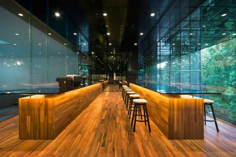 Stately Glass Case Cafes - This Nendo Coffee Shop is Located on the Second Floor of an Estate