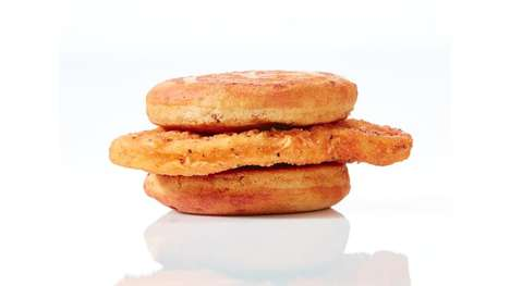 Fried Chicken Breakfast Sandwiches - The  Chicken McGriddle Combines Fried Chicken with Pancakes