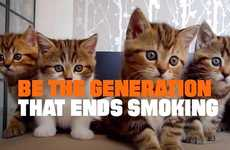 Anti-Smoking Cat Ads - The Latest 'Truth' PSA Uses this Humorous Cat Ad to Warm Against Smoking