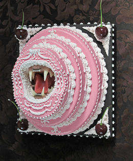 Gory Cake Installations - The Break Bread Venue is a Display of Decedeant and Violent Accents