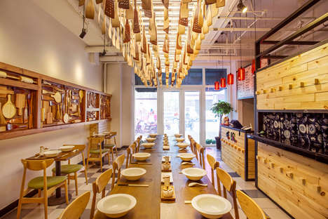 Creative Snack Bar Projects - This Beijing Noodle Bar is a Side Project of David Ho Design Studio