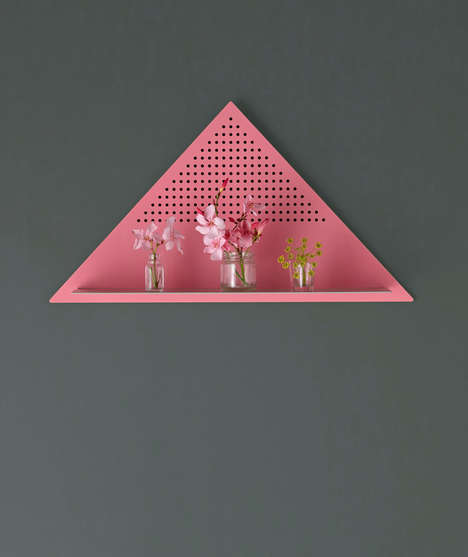 Geometric Mesh Shelving - Bride & Wolfe's Mesh Triangle Shelf is Both Practical and Visually Bold