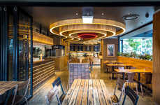 Mine-Inspired Restaurant Interiors
