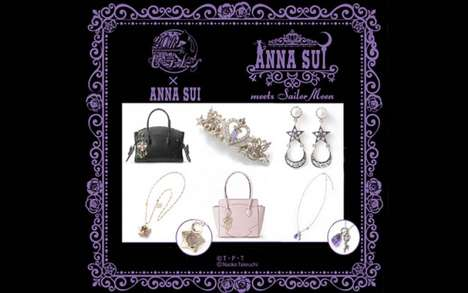 Sparkly Anime Accessories - Anna Sui Has Expanded Her Sailor Moon Collection to Include Sparkle