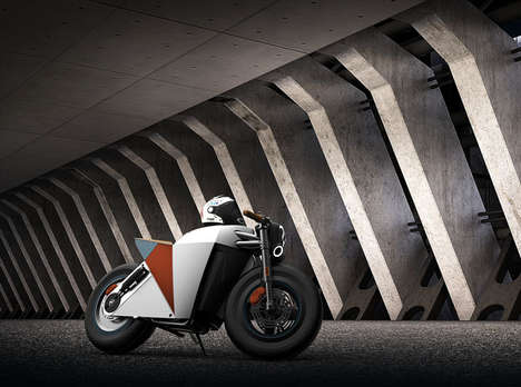 Conceptual Electric Motorbikes - The Cafe Fighter Electric Motorbike Design Blends Modern Aesthetics