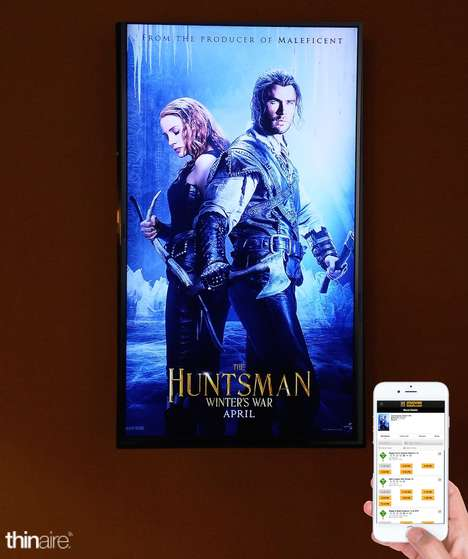 Location-Based Movie Posters - Thinair and Panasonic Partner to Create Interactive Digital Poster
