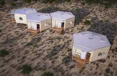 Hexagonal Disaster Shelters - The Hex House Shelter is Exceptionally Easy to Deploy