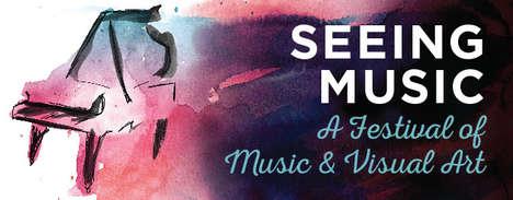 Cross-Medium Artist Festivals - The 'Seeing Music' Music and Art Festival Blends Different Mediums