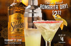 Celebratory Cocktail Promotions - This Special Drink Promotion Celebrates National Margarita Day