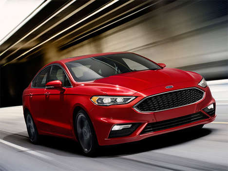 Pothole-Detecting Vehicles - The 2017 Ford Fusion V6 Sport Features an All-New Suspension System