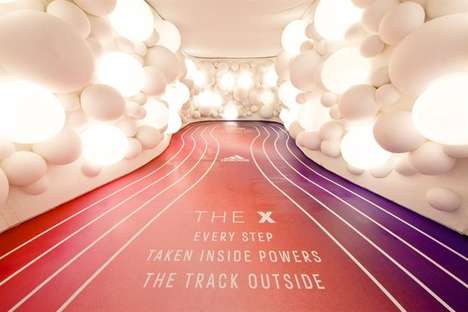 Branded Pop-Up Training Facilities - The X by adidas is a Bold Running Experience in London