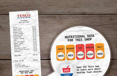 Nutritional Grocery Receipts - This Simple Graphic Turns Supermarket Receipts into Nutritional Data