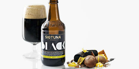 Swedish Craft Beer Branding - Sigtuna Brygghus is an Organic Brewery with Bold Bottle Designs