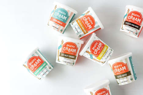 Retro Ice Cream Pints - Beachy Cream is a Brand of Organic Ice Cream from SoCal