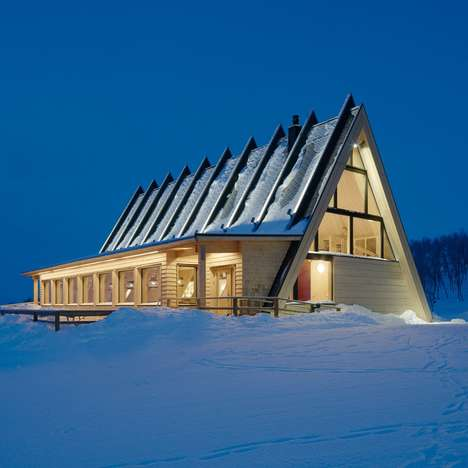 Tent-Shaped Alpine Restaurants - This Mountainside Restaurant Sits at the Top of a Swedish Ski Slope