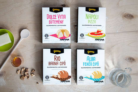 Gluten-Free Cartoon Labels - This Gluten-Free Food Company Uses Simplistic Two Dimensional Labels