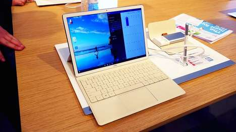Portable Hybrid Laptops - The Huawei MateBook Is Designed For One-the-Go Working