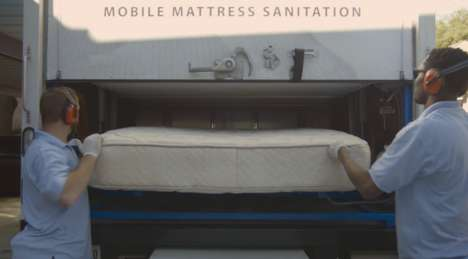 Mobile Mattress Sanitizers - 'Clean Sleep' Trucks Wash Mattresses, Plus Remove Stains and Odors