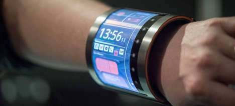 Wraparound LCD Displays - This Flexible LCD Display Can Be Wrapped Around Your Wrist