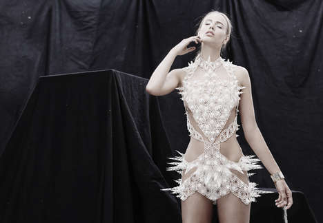 3D-Printed Tile Dresses - Alexis Walsh's 'Spire Dress' is Made of 400 Individual Nylon Pieces