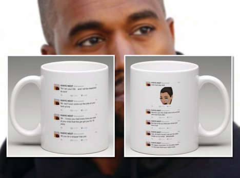 Twitter Fued Ceramics - The Kanye West and Wiz Khalifa Twitter Fued is Relived on This Mug Design