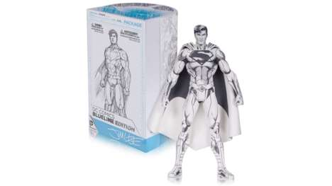 Sketched Superhero Figurines - The Jim Lee Blueline Superman is Styled Like a 3D Drawing