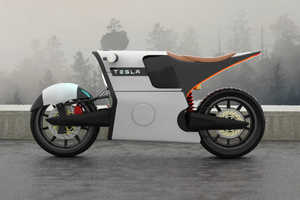 This Tesla E Bike Motorcycle Concept is Futuristic Yet Realistic