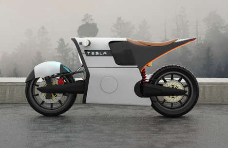 Ecologically Efficient Motorbikes - This Tesla E Bike Motorcycle Concept is Futuristic Yet Realistic
