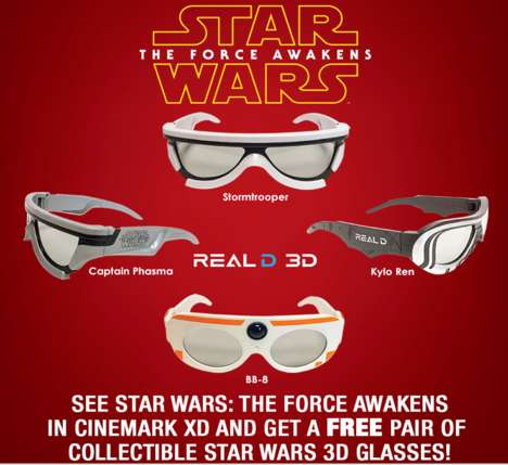 Promotional Cinema Giveaways - This Theater Provided Star Wars Fans with Collectible 3D Glasses