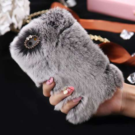 Rabbit Fur Phone Cases - These Smartphone Cases Feature a Furry Yet Cruelty-Free Aesthetic