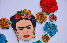 Expressive Artist Accessories - This Hand-Illustrated Jewelry Piece Celebrates Frida Kalho